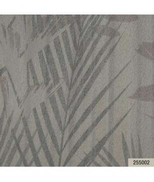 Modele de tapet pentru living din vinil crem model cu frunze 70 cm latime Animalier Portofino 255002