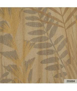 Tapet decoratiuni crem model cu frunze 70 cm latime Animalier Portofino 255004
