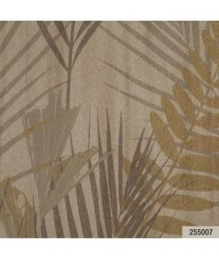 Tapet decorativ pret bun, crem model cu frunze 70 cm latime Animalier Portofino 255007