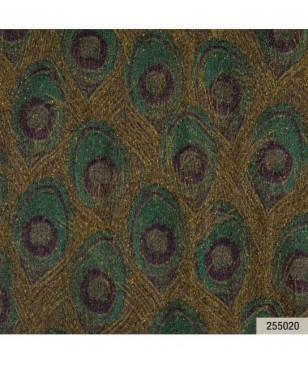 Tapet online pret bun, verde model pene paun 70 cm latime Animalier Portofino 255020