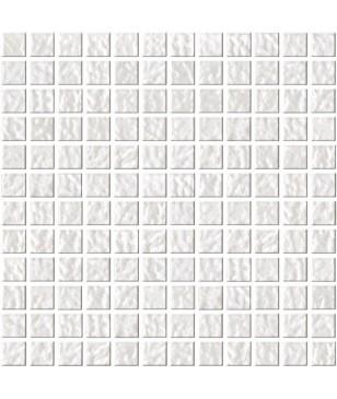 Mozaic Alb Lucios din Sticla Midas