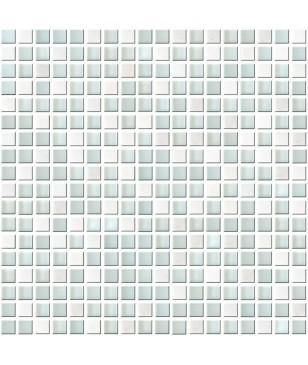 Mozaic Alb Albastru din Sticla & Piatra Midas